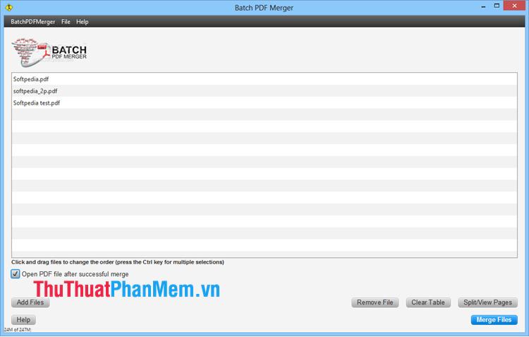 Phần mềm Batch PDF Merger