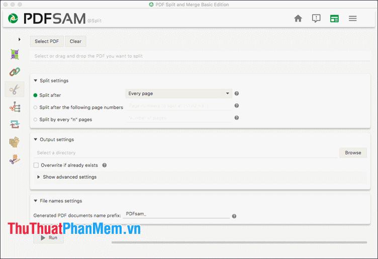 Phần mềm PDFSAM