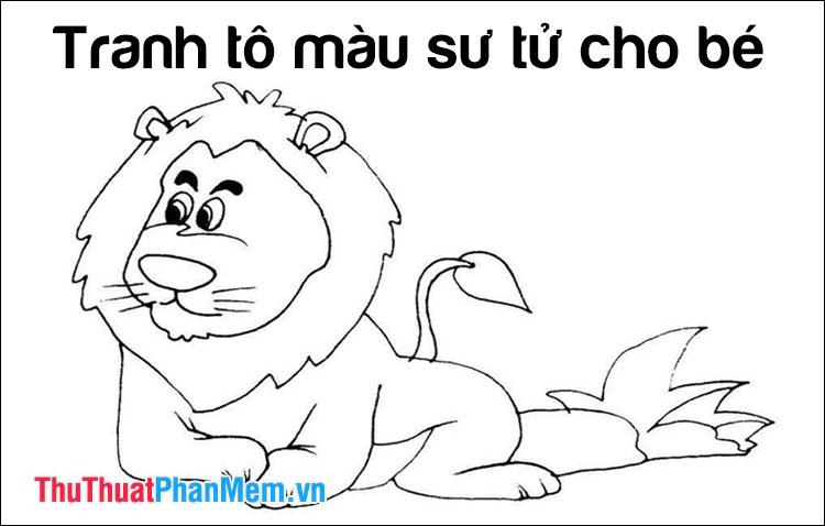 Tranh tô màu con sư tử cho bé