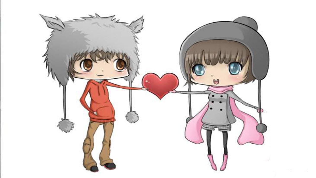 Ảnh hoạt hình tình yêu cho cặp đôi