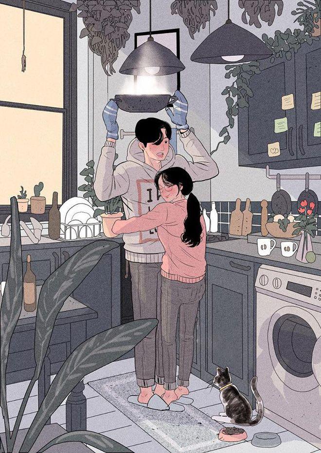 Ảnh vẽ hoạt hình về tình yêu