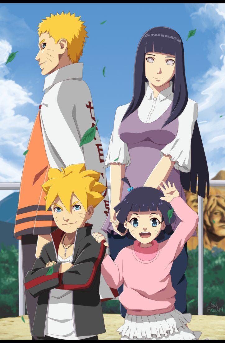 Hình ảnh gia đình naruto và hinata