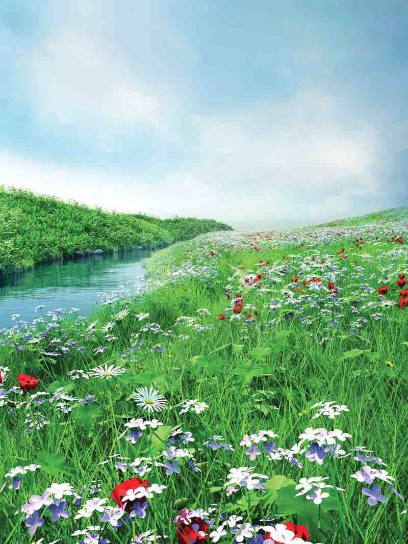 Hình ảnh hoa cỏ 3D