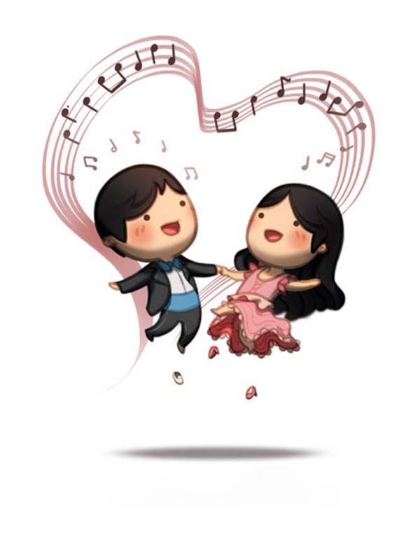 Hình ảnh hoạt hình tình yêu dễ thương