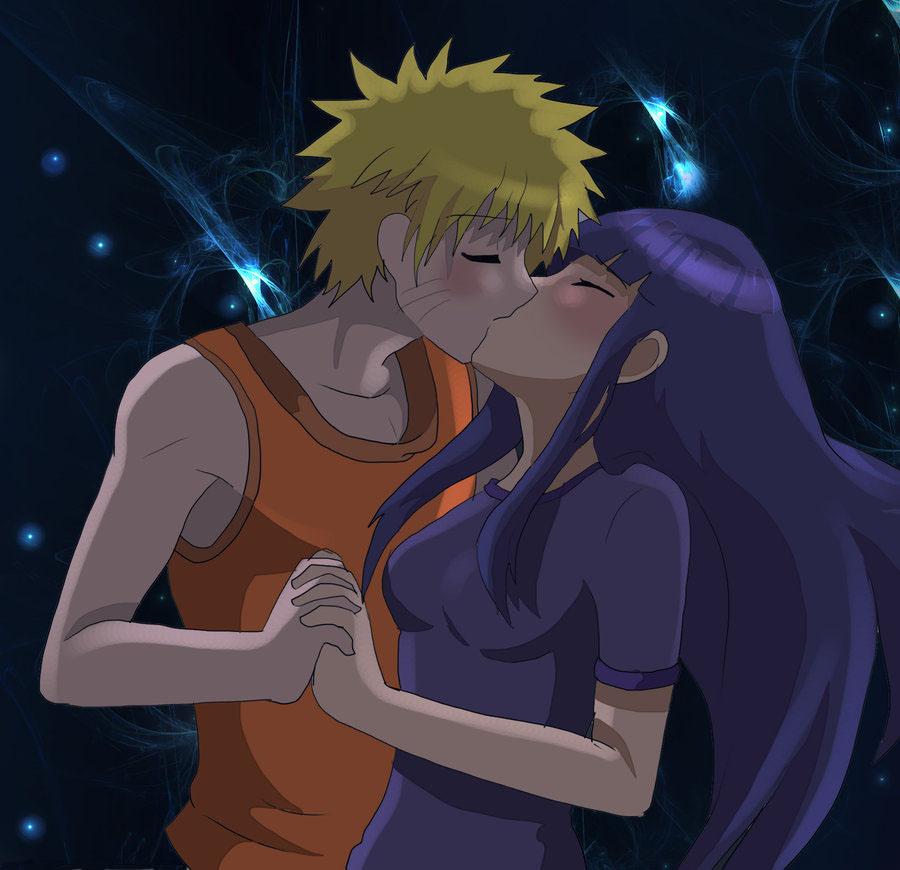 Hình ảnh hôn nhau của naruto và hinata