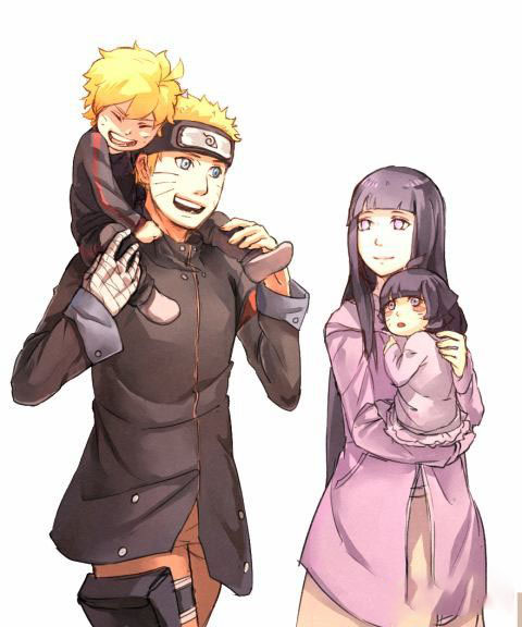 Hình ảnh naruto và hinata có con