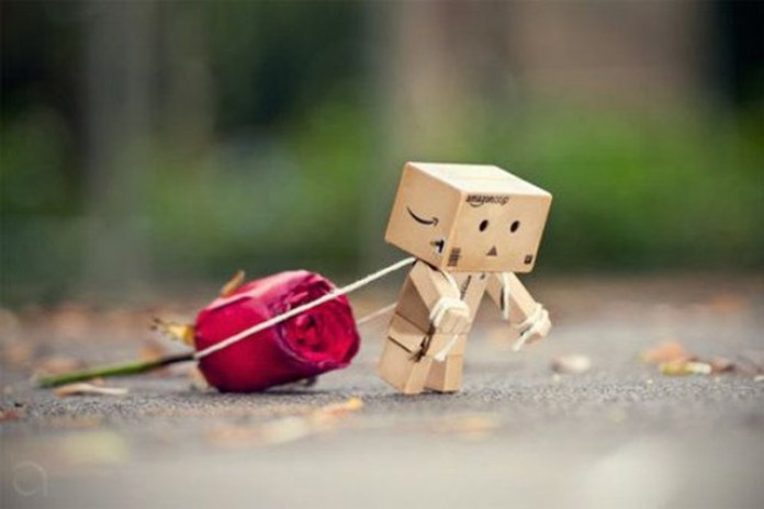 Hình ảnh người gỗ kéo hoa hồng