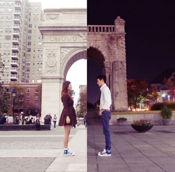 Hình ảnh tình yêu xa nhau