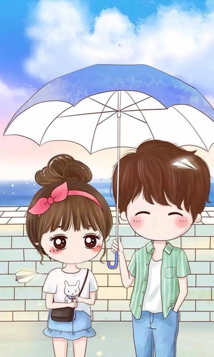 Hình anime chibi boy và girl