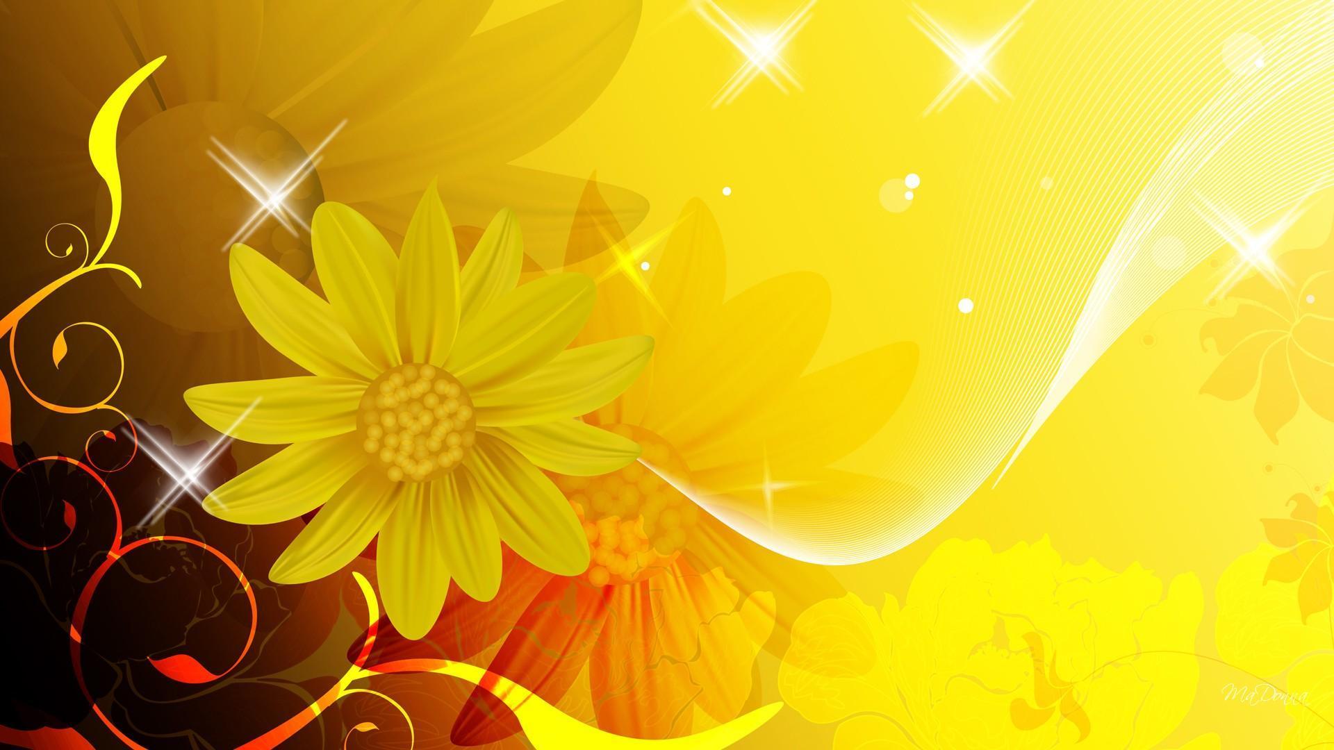 Hình nền hoa vàng cho máy tính