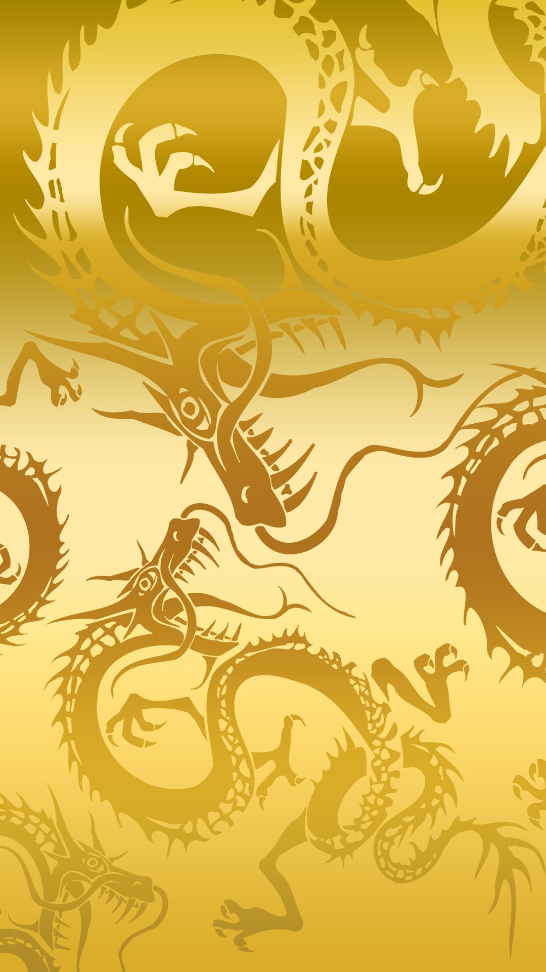 Hình nền rồng vàng cho điện thoại