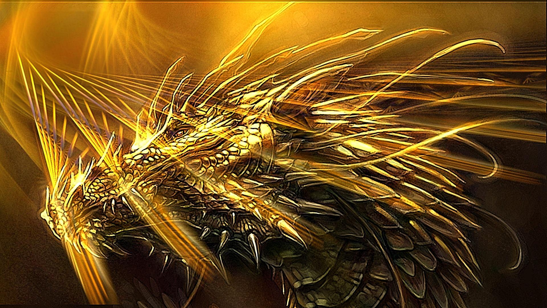 Hình nền rồng vàng full HD