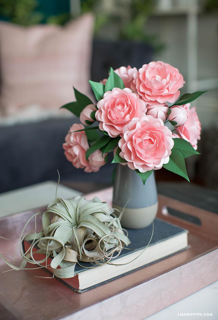 Lọ hoa trà mi màu hồng phấn rất đẹp