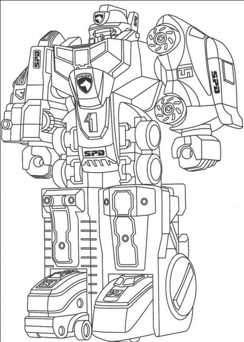 Tranh robot tô màu đẹp