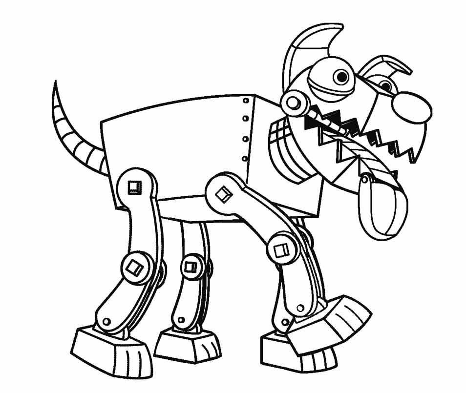 Tranh tô màu chó robot