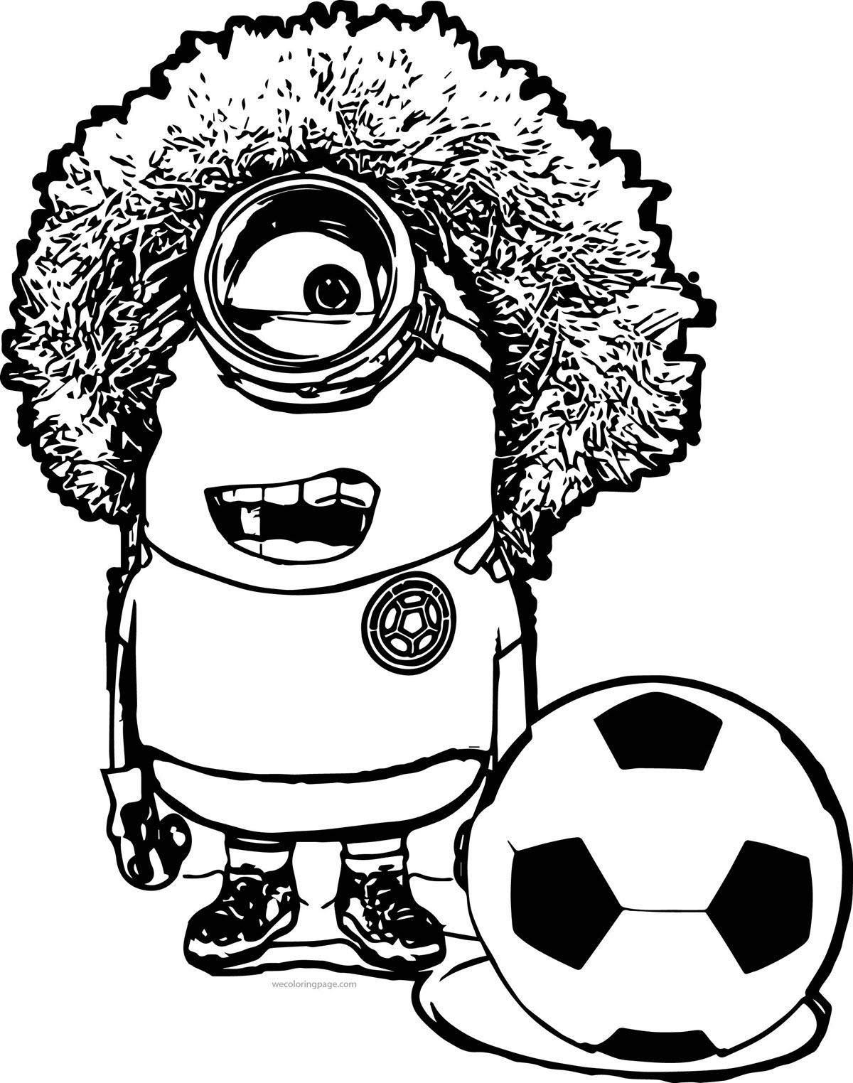 Tranh tô màu minion bóng đá