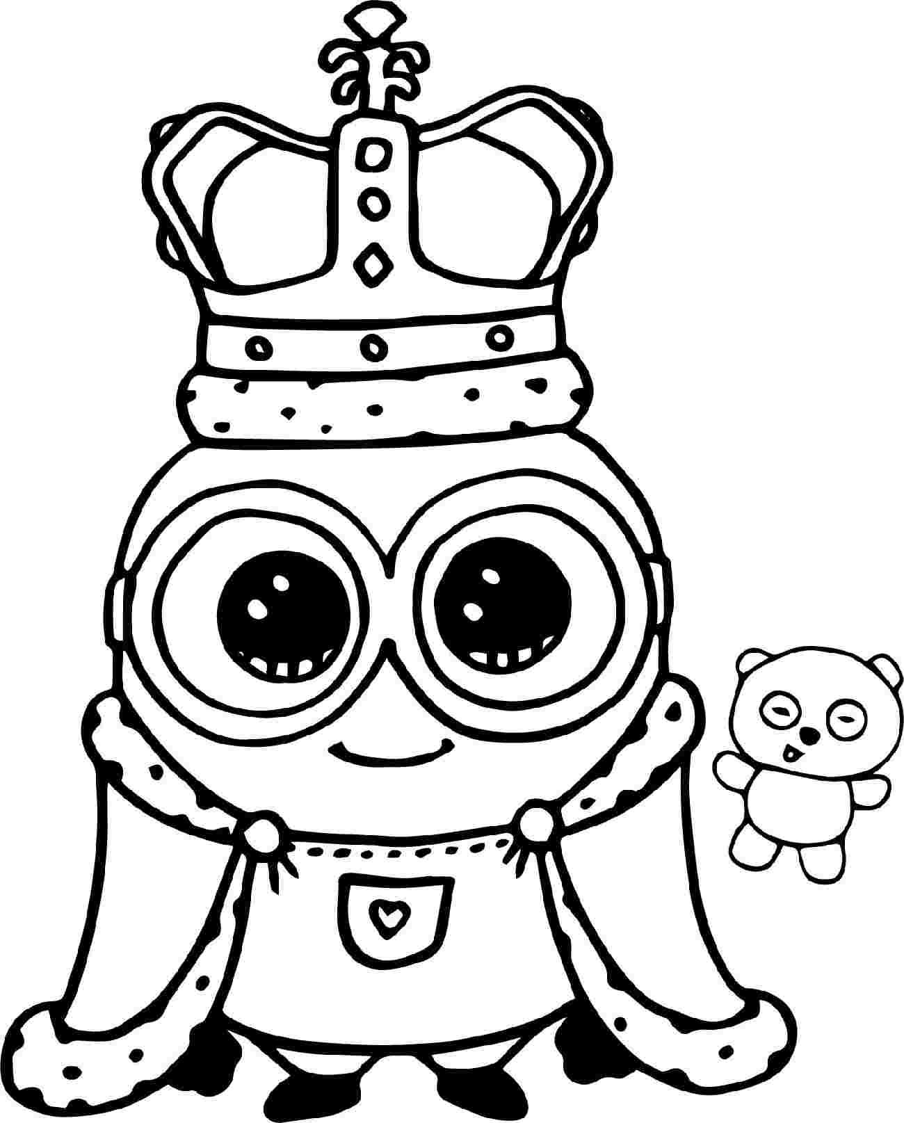 Tranh tô màu minion hoàng hậu
