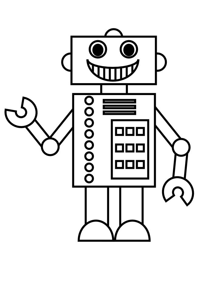 Tranh tô màu người máy robot