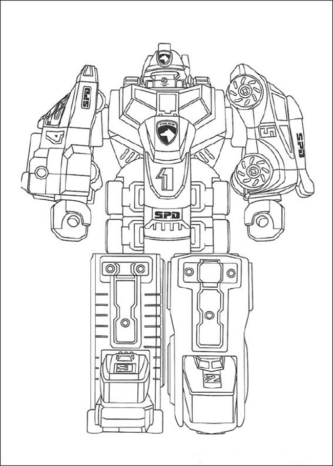 Tranh tô màu robot biến hình siêu xe