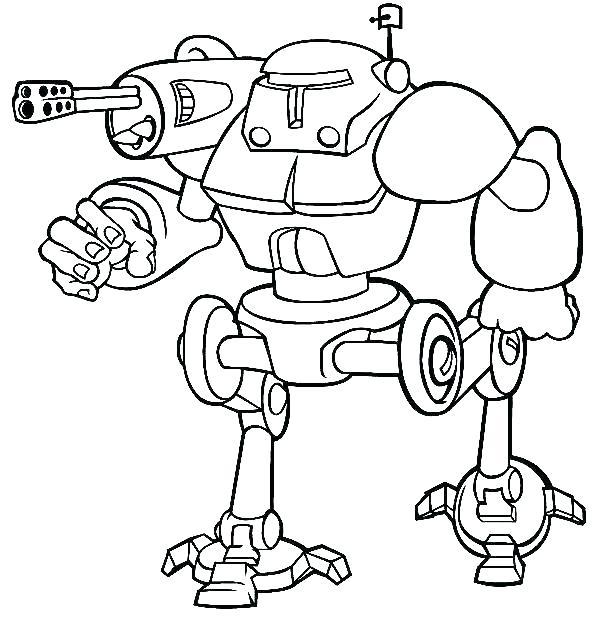 Tranh tô màu robot chiến tranh