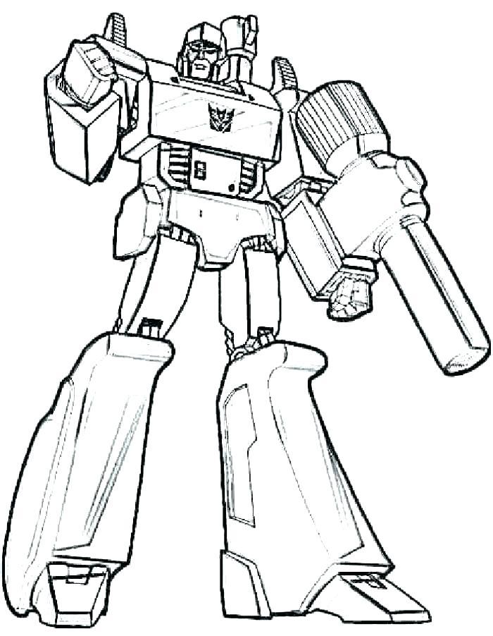 Tranh tô màu robot cực ngầu
