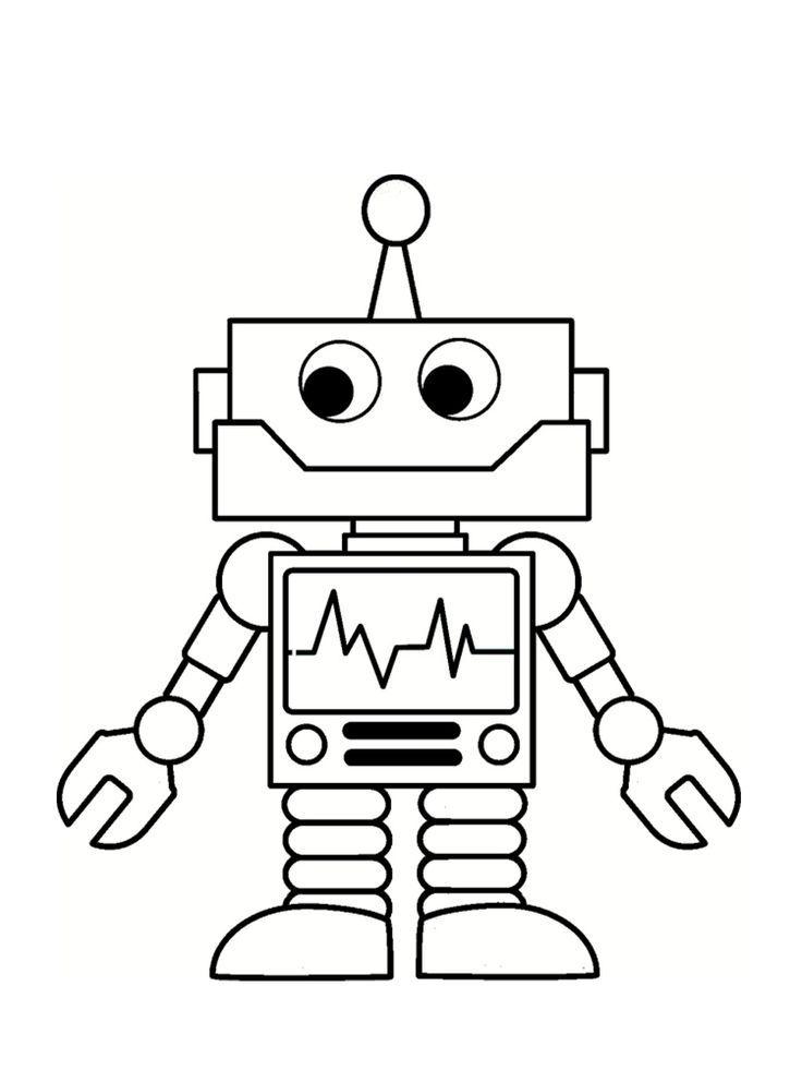 Tranh tô màu robot đơn giản mà đẹp