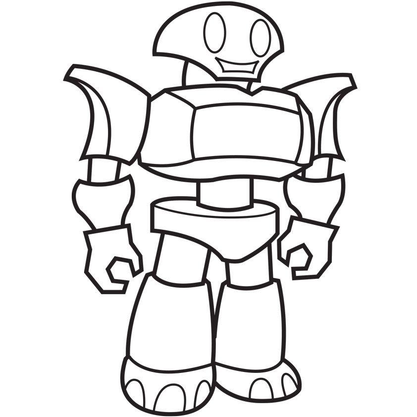 Tranh tô màu robot đơn giản