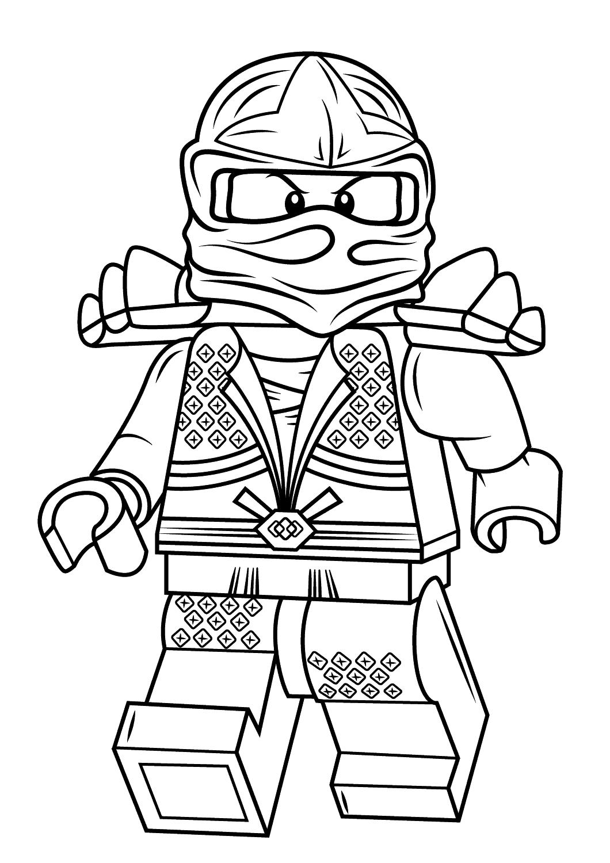Tranh tô màu robot lego ninja