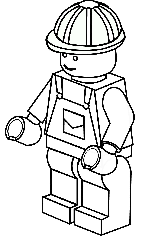 Tranh tô màu robot lego