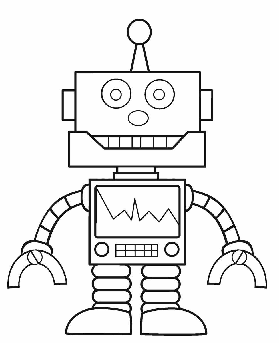 Tranh tô màu robot người máy