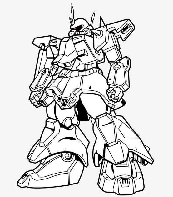 Tranh tô màu robot star war