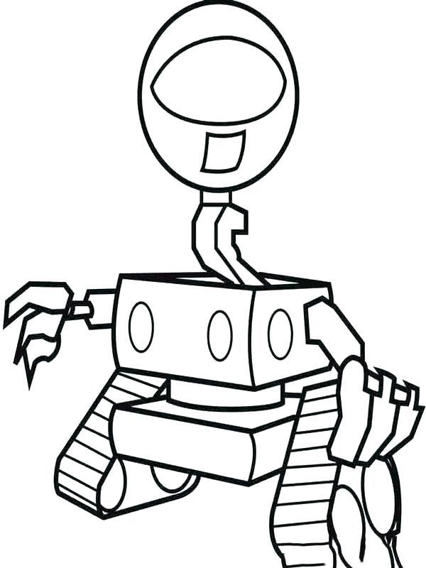 Tranh tô màu robot thăm dò