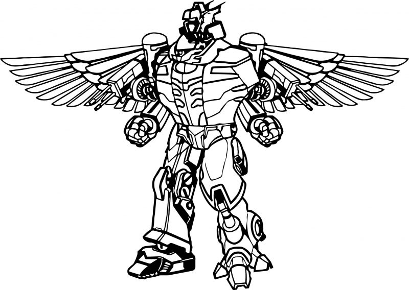 Tranh tô màu robot thiên thần