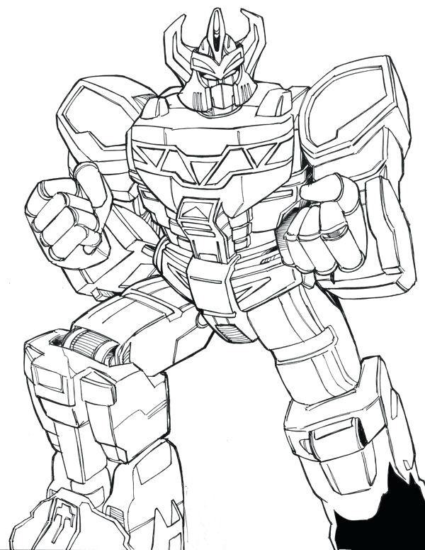 Tranh tô màu robot võ sĩ