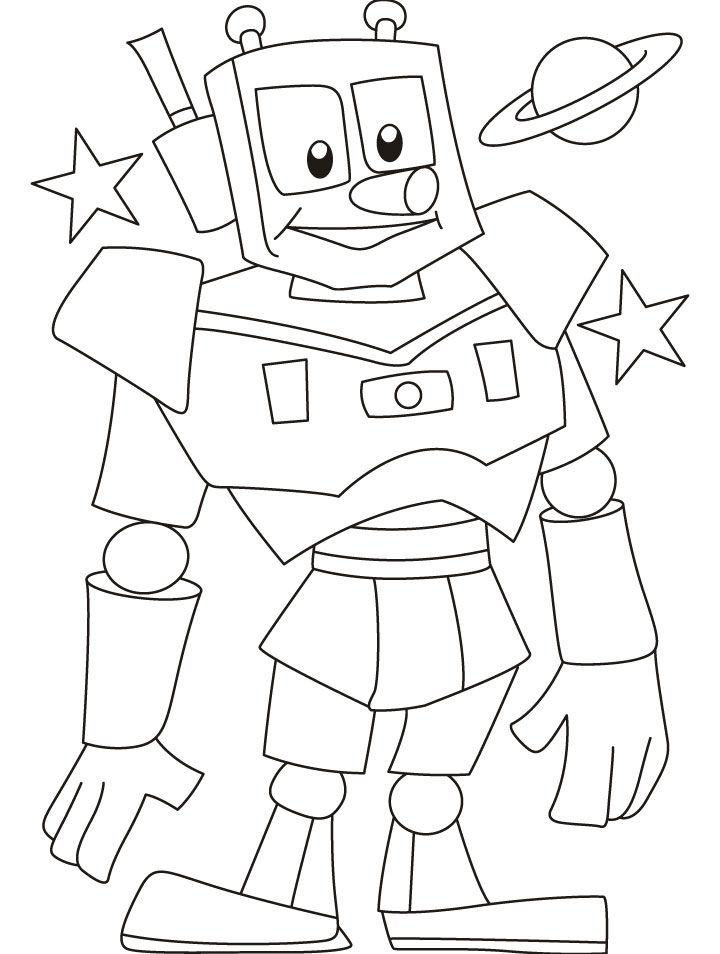 Tranh tô màu robot vũ trụ
