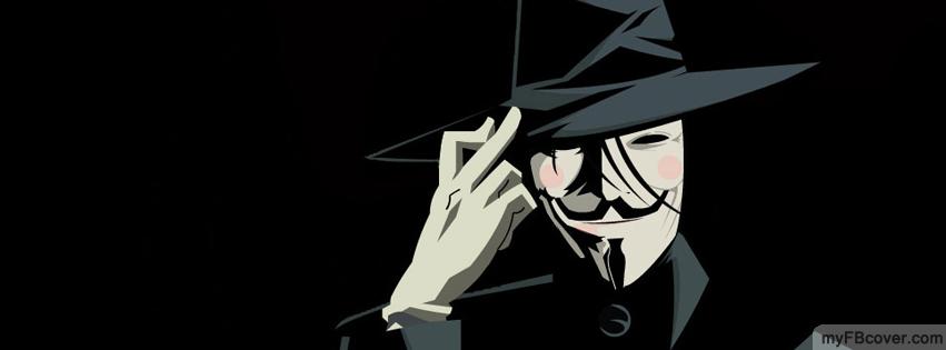 Ảnh bìa Facebook Hacker Anonymous