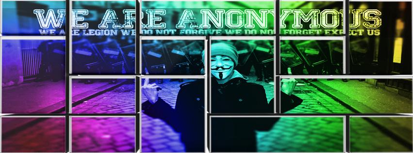 Ảnh bìa Facebook Hacker nhiều màu đẹp