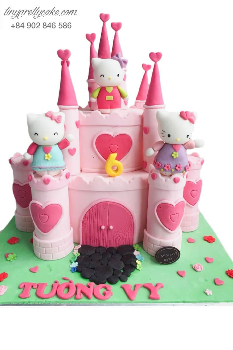 Bánh kem Hello Kitty rất xinh đẹp