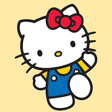 Bé Hello Kitty giơ tay xin chào