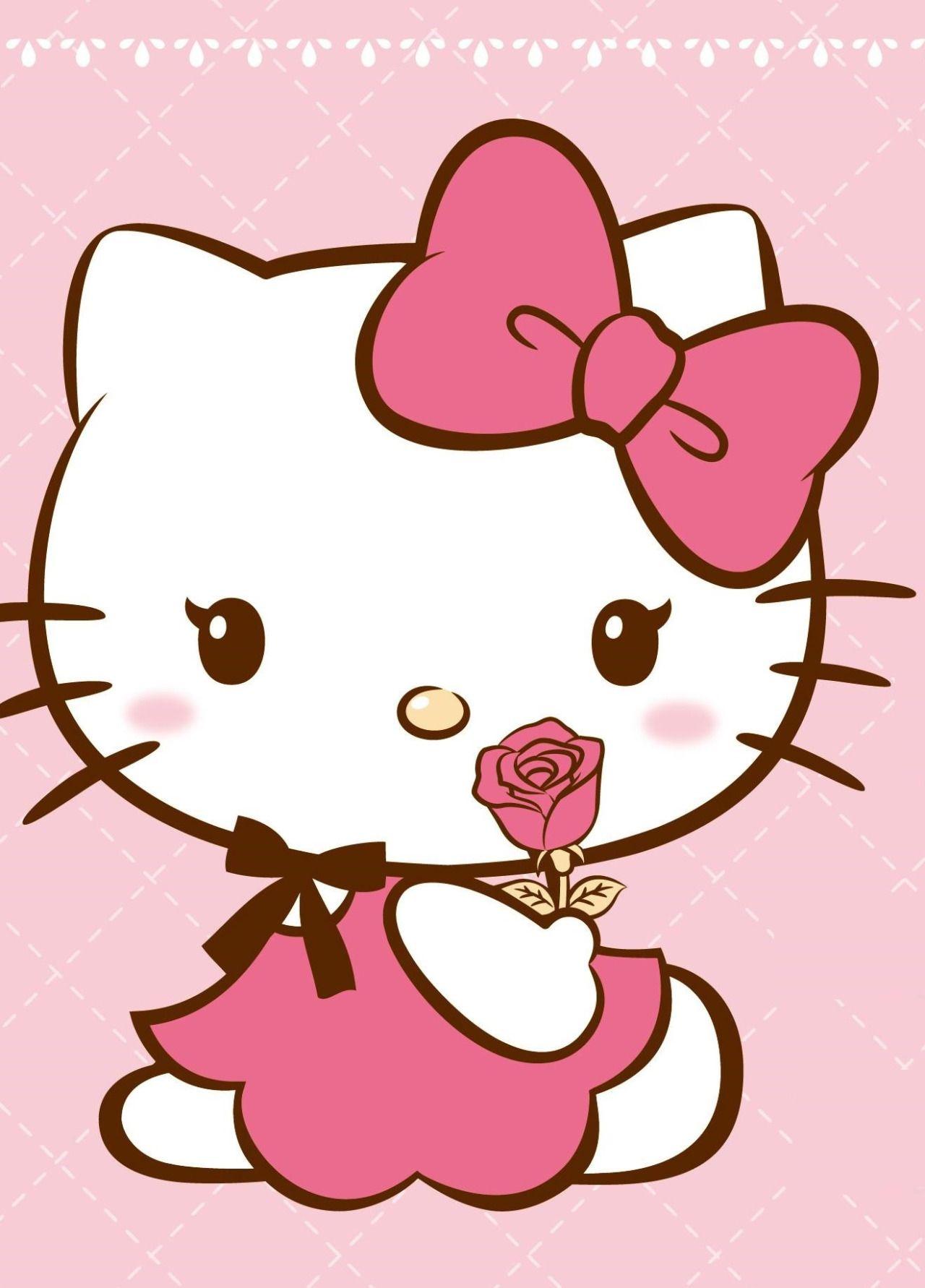 Cô gái Hello Kitty màu hồng xinh đẹp