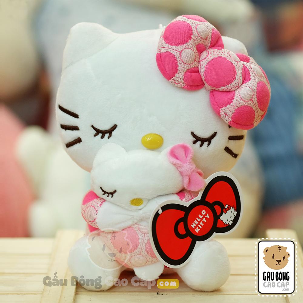 Gấu bông Hello Kitty ôm gấu Hello Kitty