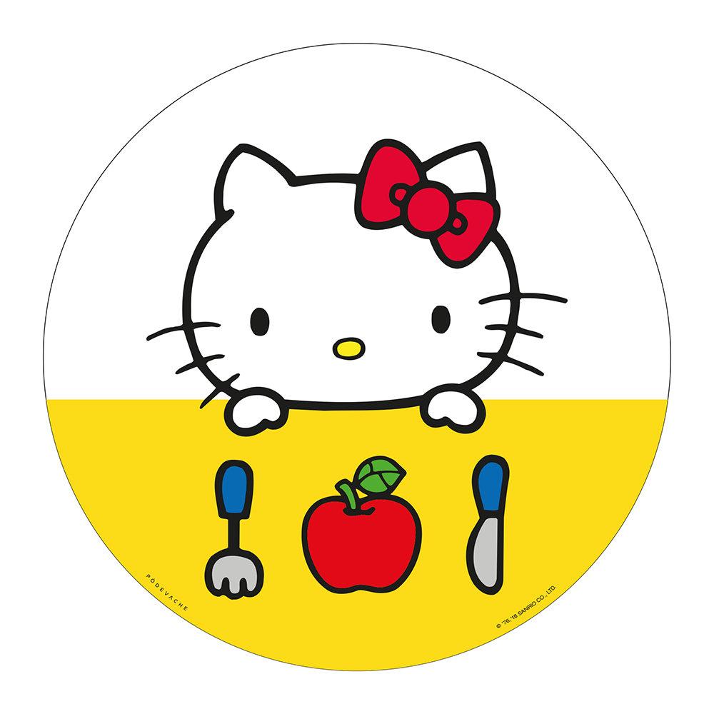 Hello Kitty ăn táo đỏ