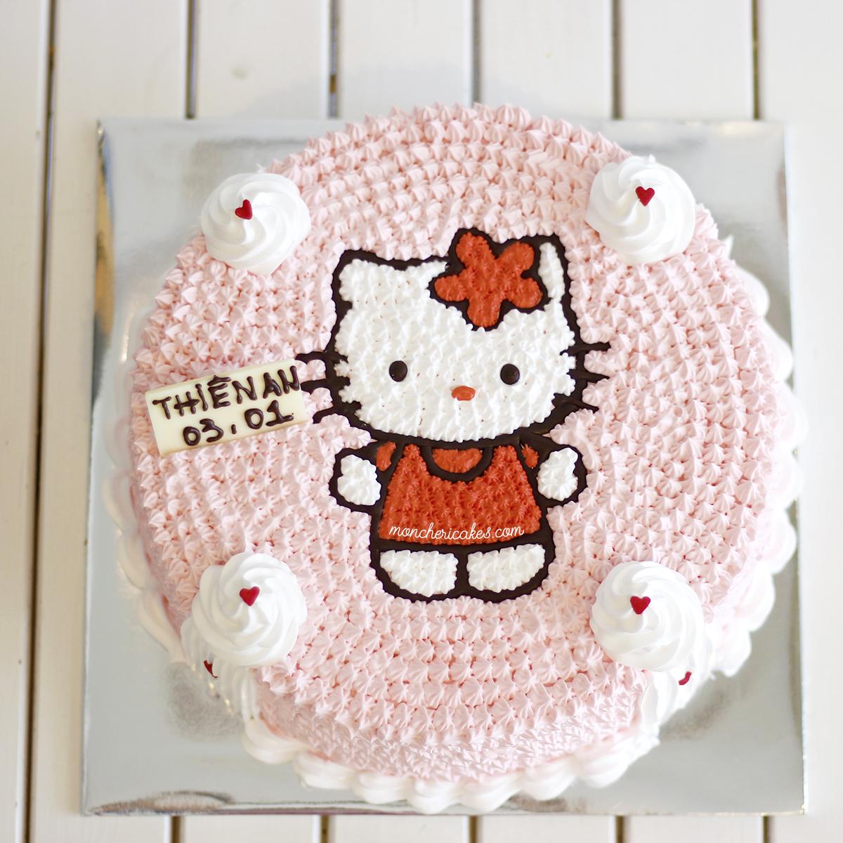 Hello Kitty bánh kem xinh đẹp