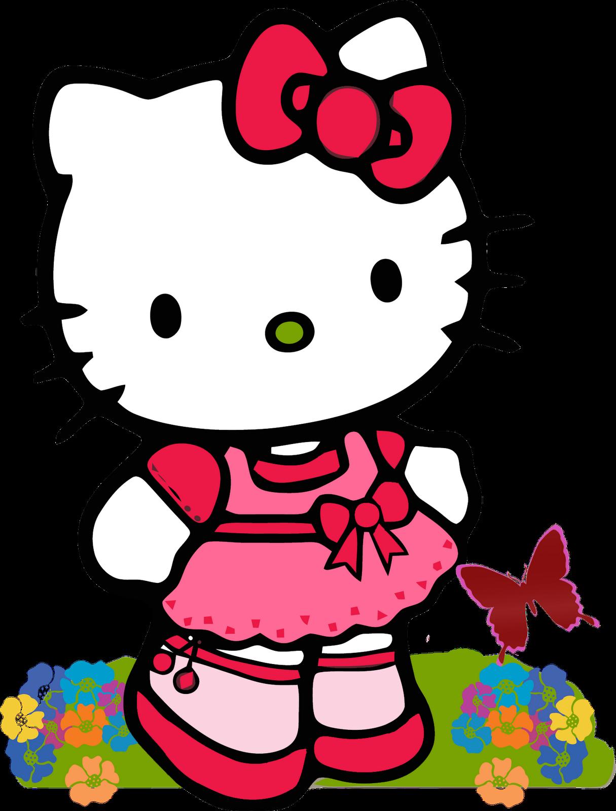 Hello Kitty bướm hồng váy xinh