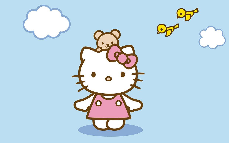 Hello Kitty cùng bé gấu đi chơi