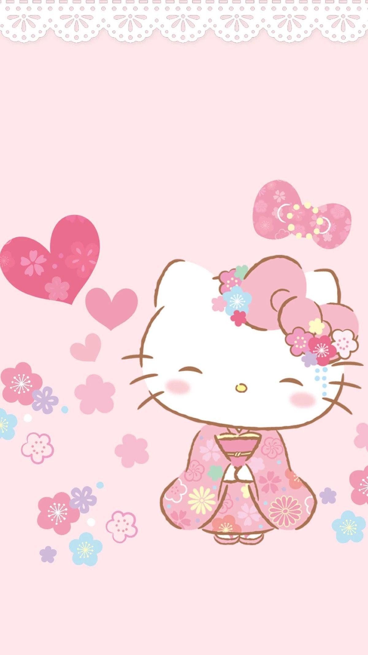 Hello Kitty mặc kimono xinh xắn đáng yêu