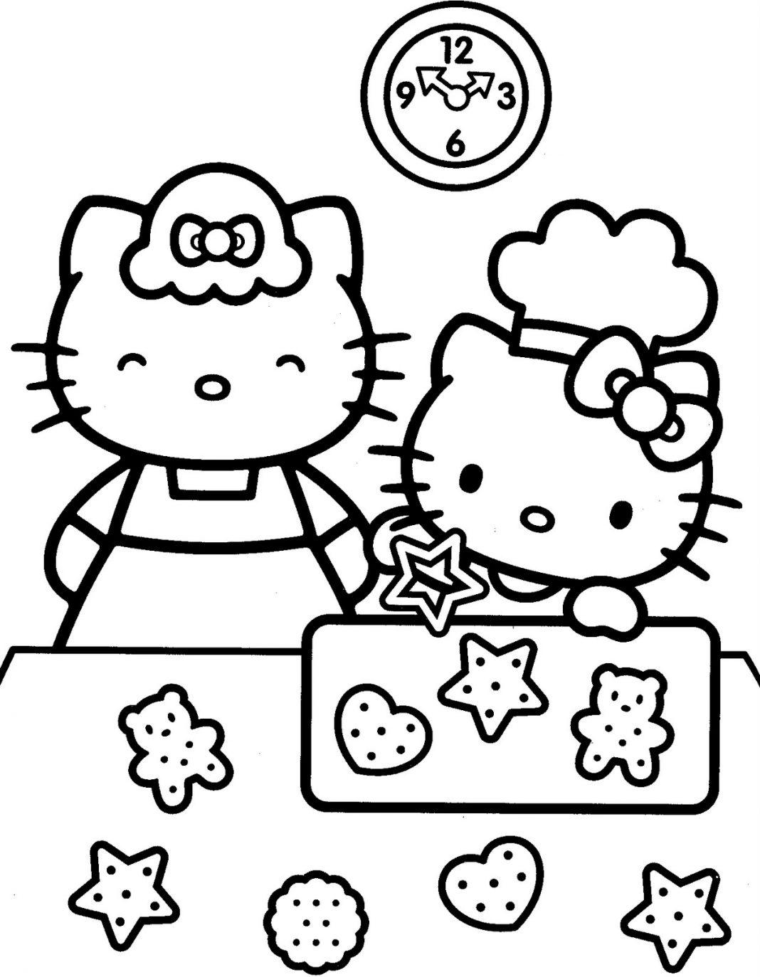 Hello Kitty mẹ dạy bé làm bánh
