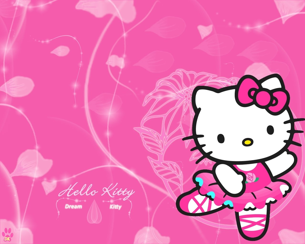 Hello Kitty múa ba lê hồng chóe