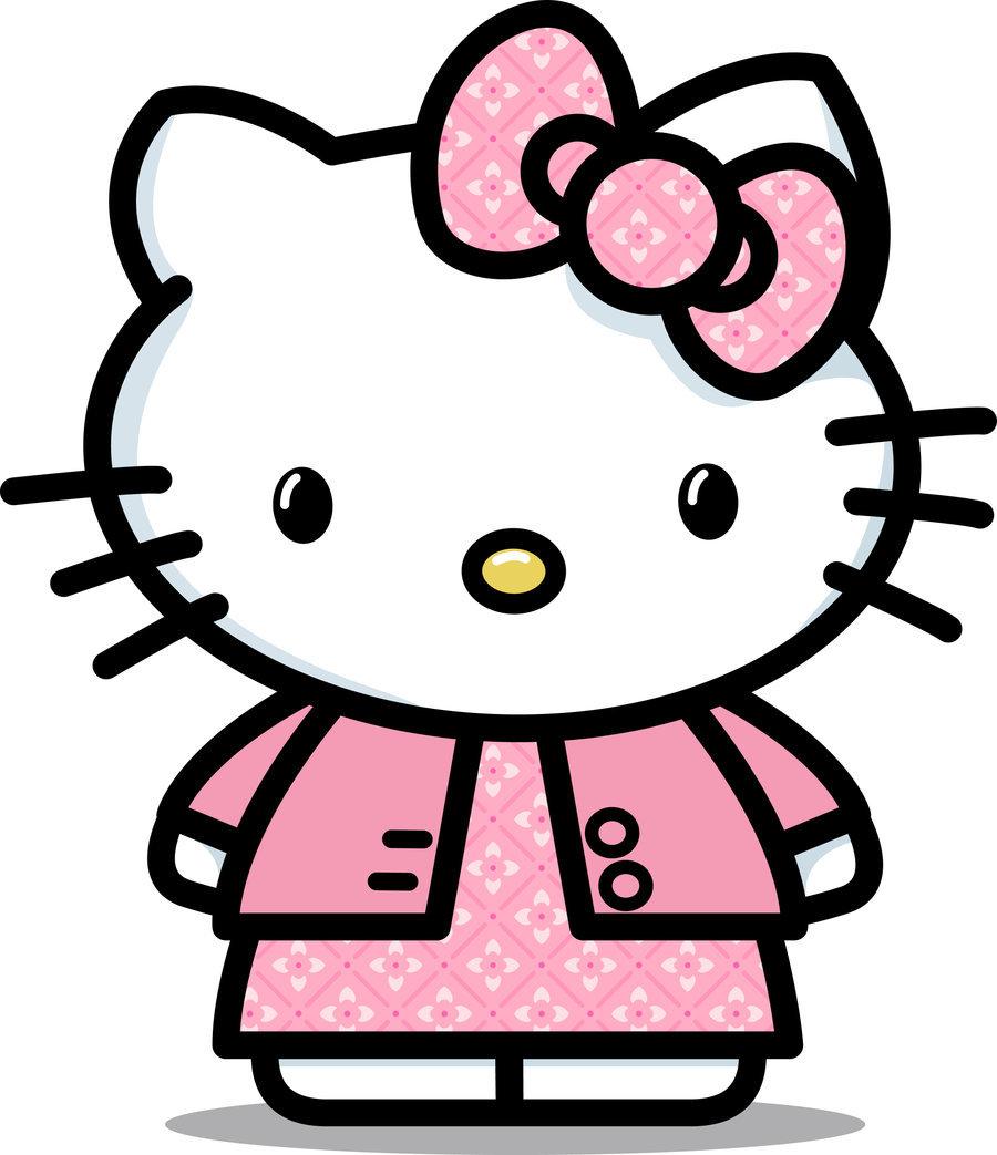 Hello Kitty nơ hồng caro váy hồng caro