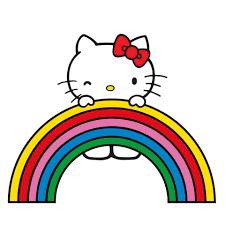 Hello Kitty ôm ấp cầu vồng